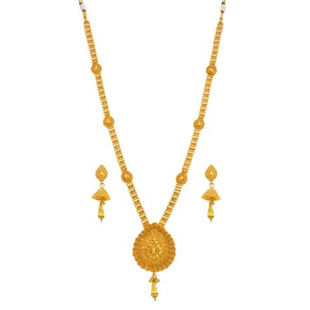 14684 Antique Long Necklace with gold plating