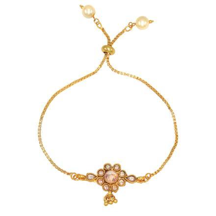 14689 Antique Adjustable Bracelet with gold plating