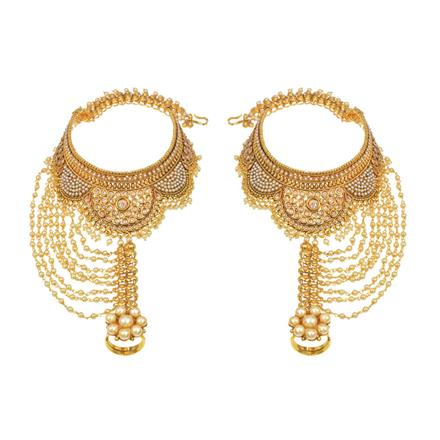 14690 Antique Classic Payal with gold plating