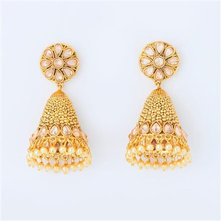 14700 Antique Jhumki with gold plating