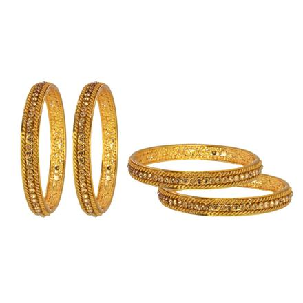 14702 Antique Classic Bangles with gold plating