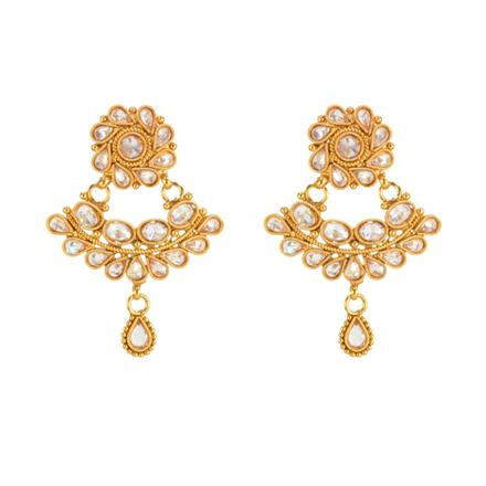 14707 Antique Classic Earring with gold plating