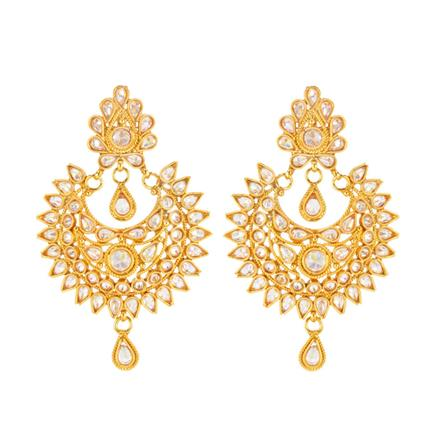 14708 Antique Chand Earring with gold plating
