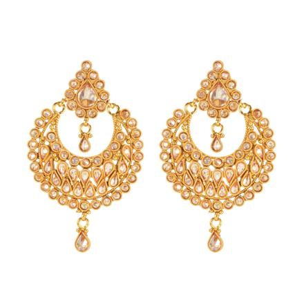 14709 Antique Chand Earring with gold plating