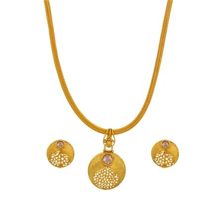 14711 Antique Delicate Pendant Set with gold plating