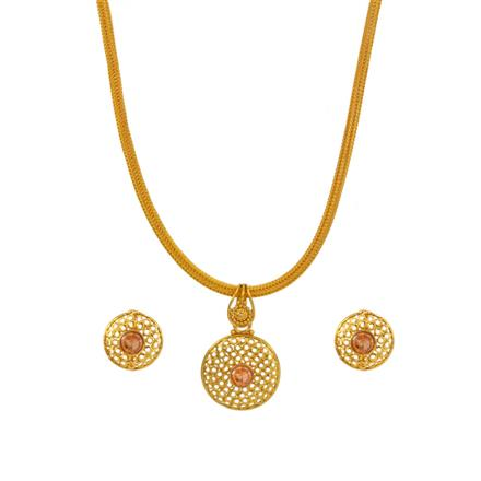 14712 Antique Delicate Pendant Set with gold plating