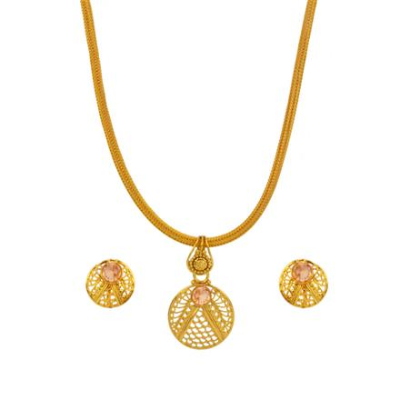 14714 Antique Delicate Pendant Set with gold plating