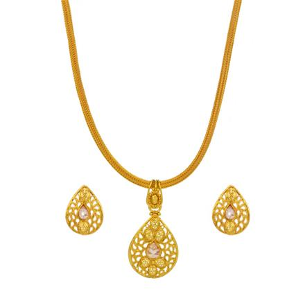 14715 Antique Delicate Pendant Set with gold plating