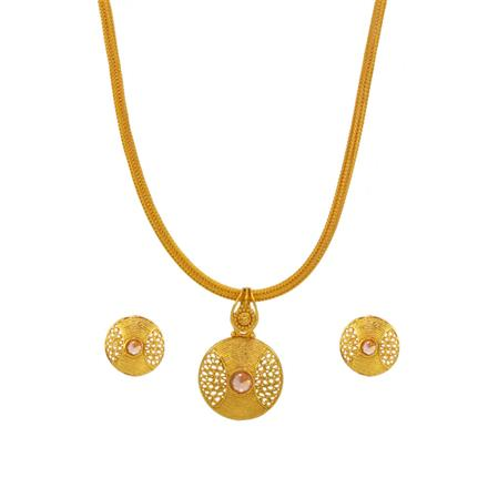 14716 Antique Delicate Pendant Set with gold plating