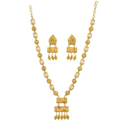 14719 Antique Mala Necklace with gold plating