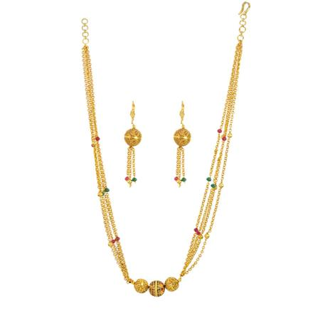 14720 Antique Mala Necklace with gold plating