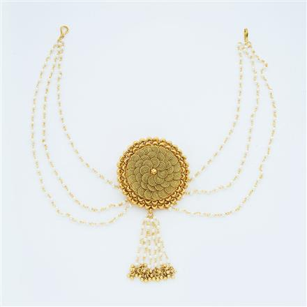 14728 Antique Classic Hair Brooch with gold plating