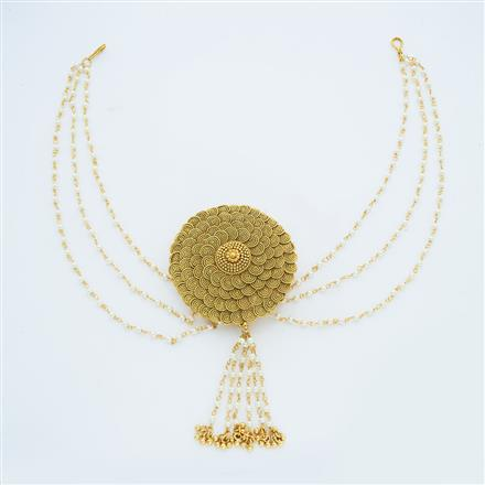 14729 Antique Classic Hair Brooch with gold plating
