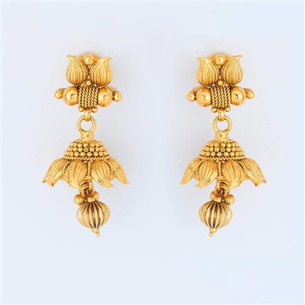 14731 Antique Delicate Earring with gold plating