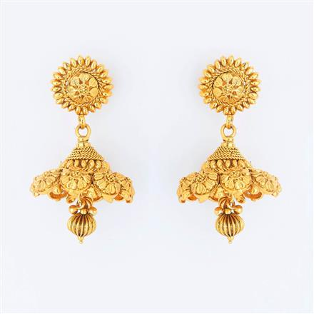 14732 Antique Jhumki with gold plating