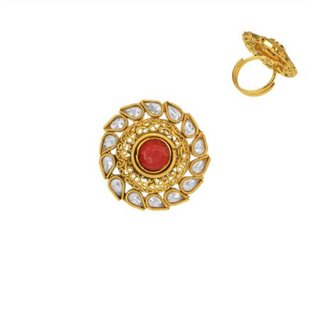 14734 Antique Classic Ring with gold plating