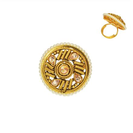 14735 Antique Classic Ring with gold plating