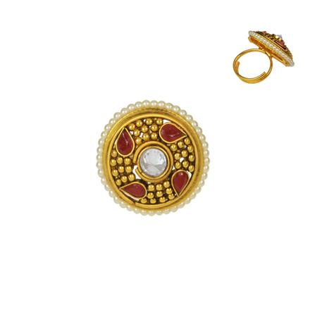 14736 Antique Classic Ring with gold plating