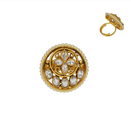 14737 Antique Classic Ring with gold plating
