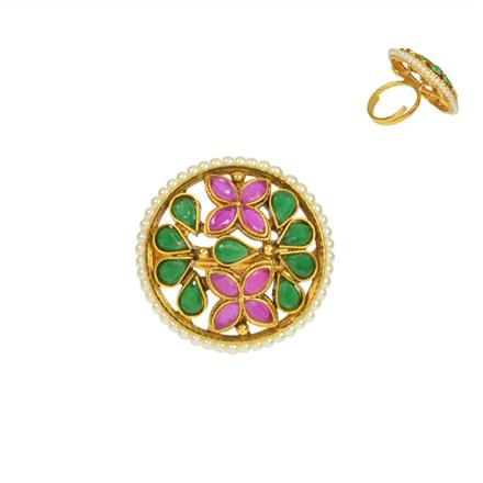 14738 Antique Classic Ring with gold plating
