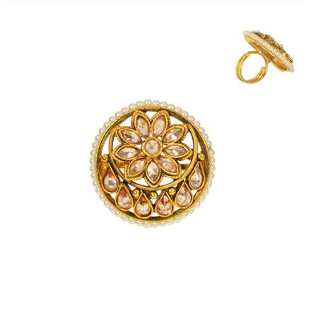 14739 Antique Classic Ring with gold plating