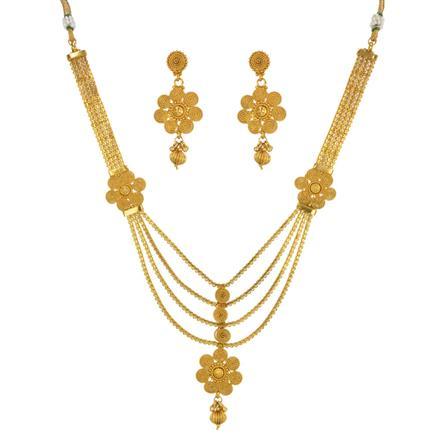 14740 Antique Plain Gold Necklace