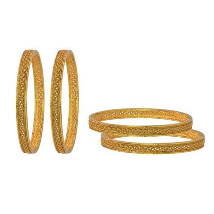 14745 Antique Plain Gold Bangles