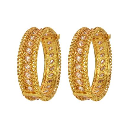 14746 Antique Openable Bangles with gold plating