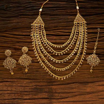 14756 Antique Classic Necklace with gold plating