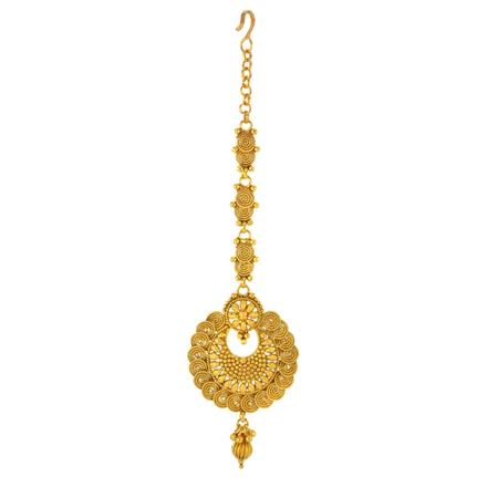 14758 Antique Chand Tikka with gold plating