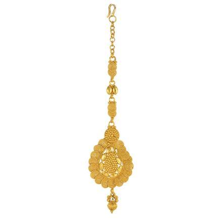 14759 Antique Plain Gold Tikka