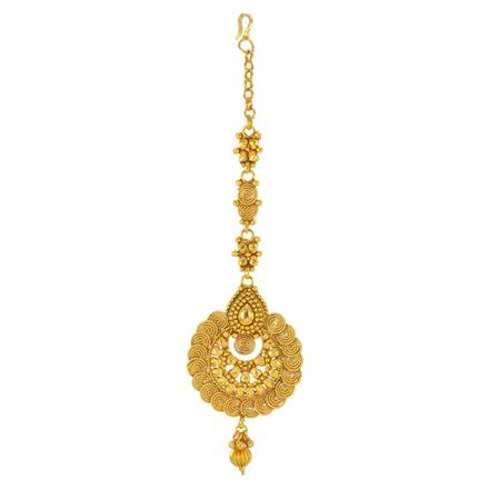 14760 Antique Chand Tikka with gold plating