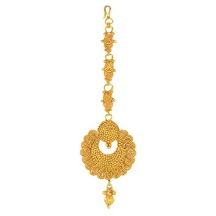 14761 Antique Chand Tikka with gold plating