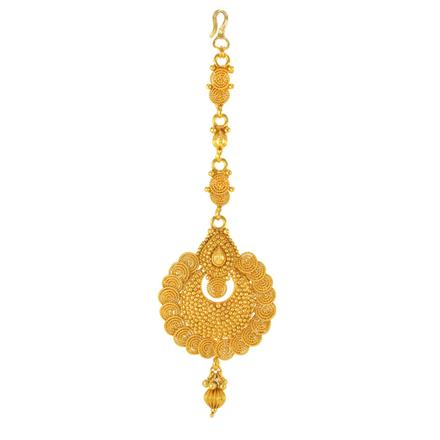 14762 Antique Chand Tikka with gold plating