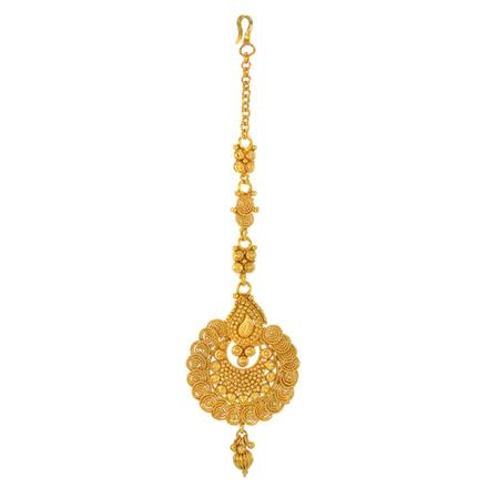 14764 Antique Chand Tikka with gold plating