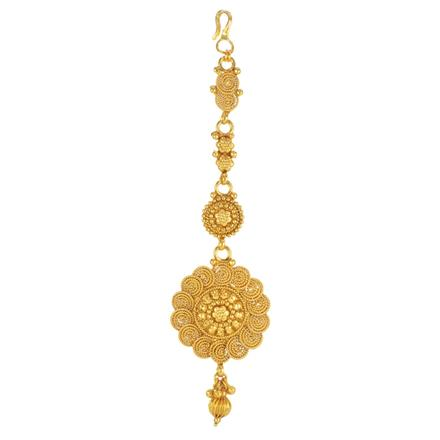 14765 Antique Plain Gold Tikka