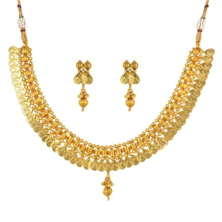 14768 Antique Temple Necklace with gold plating