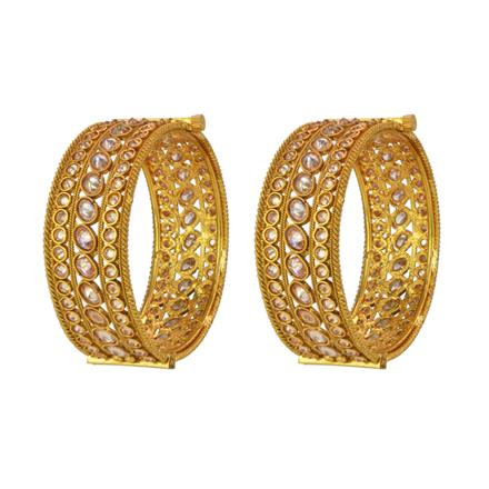 14770 Antique Openable Bangles with gold plating