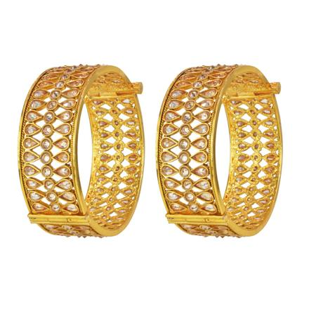14771 Antique Openable Bangles with gold plating