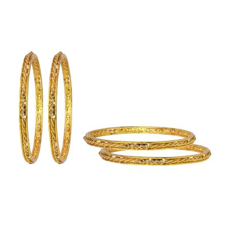 14772 Antique Classic Bangles with gold plating