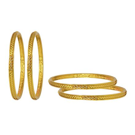 14773 Antique Classic Bangles with gold plating
