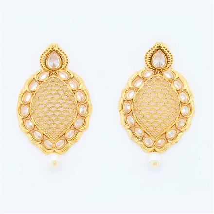 14774 Antique Classic Earring with gold plating