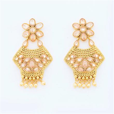 14775 Antique Classic Earring with gold plating