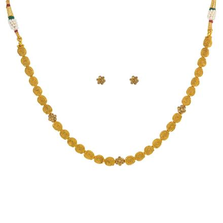 14776 Antique Delicate Necklace with gold plating