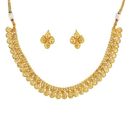 14777 Antique Delicate Necklace with gold plating