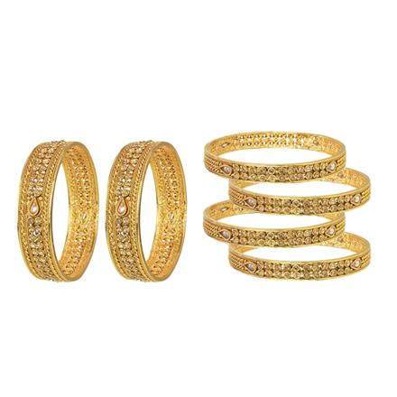 14781 Antique Classic Bangles with gold plating