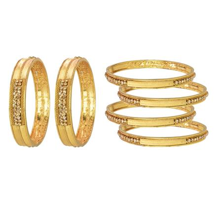 14782 Antique Classic Bangles with gold plating
