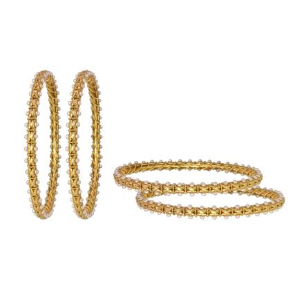 14783 Antique Classic Bangles with gold plating