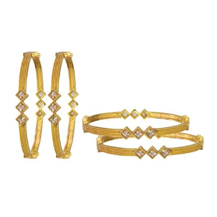 14784 Antique Classic Bangles with gold plating