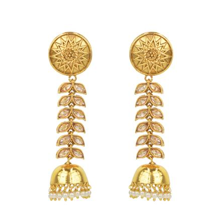 14785 Antique Jhumki with gold plating